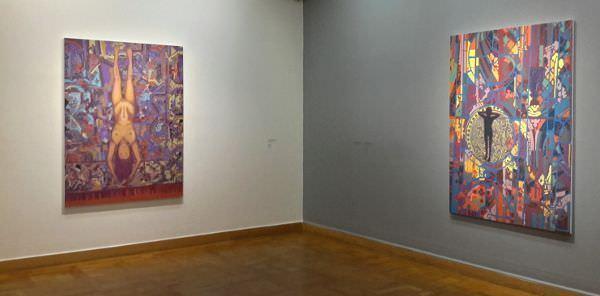 Hubert Schmalix, Ausstellungseinblick Bank Austria Kunstforum 2015, Foto: Alexandra Matzner.