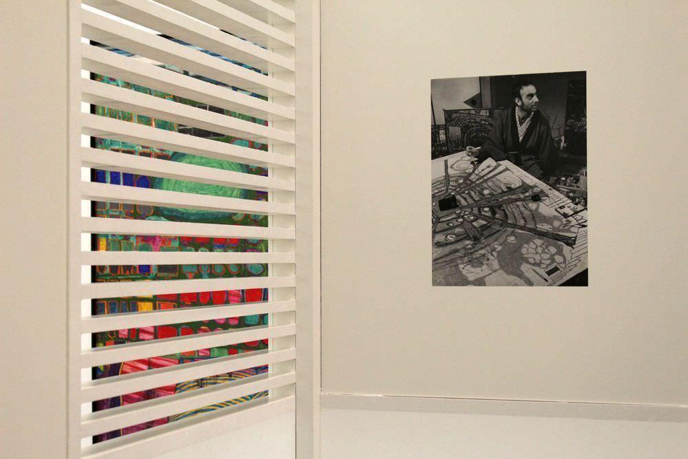 """Ausstellungsansicht """"Hundertwasser, Japan und die Avantgarde"""" (Foto), Belvedere, Orangerie, 6.3.-30.6.2013, Foto: Alexandra Matzner."""