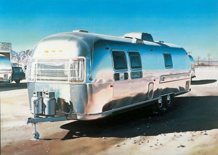 Ralph Goings, Airstream, 1970, Öl auf Leinwand, 152 x 214 cm, Sammlung MUMOK, Foto MUMOK © Ralph Goings.