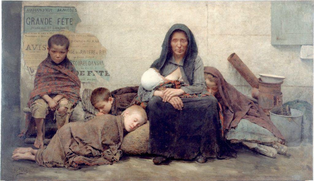 Fernand Pelez (1843–1913) Sans asile, 1883 (Paris, Petit Palais).