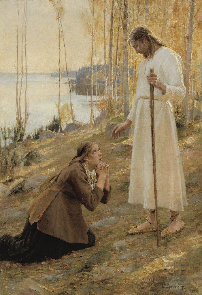 Albert Edelfelt, Christ and Mary Magdalene A Finnish Legend, 1890 (Helsinki, Ateneum).