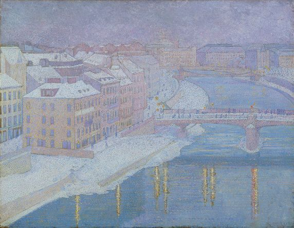 Franz Jaschke, An der Donaulände, 1903, Öl auf Leinwand, 87,5 x 113 cm © Belvedere, Wien.