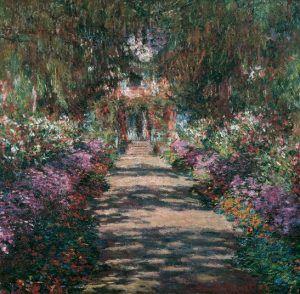 Claude Monet, Weg in Monets Garten in Giverny, 1902, Öl auf Leinwand, 89,5 x 92,3 cm © Belvedere, Wien.