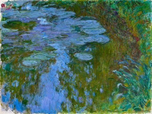 Claude Monet, Seerosen, 1914-1917, Öl auf Leinwand, 150 x 200 cm © Fondation Beyeler, Riehen/Basel / Foto: © Robert Bayer, Basel.