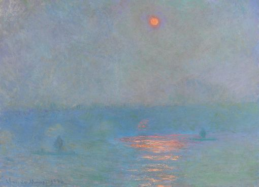 Claude Monet, Waterloo Bridge, Sonne im Nebel, 1903, Öl auf Leinwand, 73,7 x 100,3 cm, Erworben 1914 © National Gallery of Canada, Ottawa.
