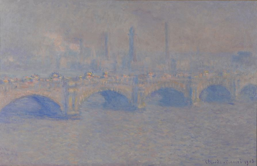 Claude Monet, Waterloo Bridge, Sonne, 1903, Öl auf Leinwand, 65,1 x 100 cm © McMaster Museum of Art, Hamilton, Schenkung Herman H. Levy, Esq., OBE, 1984.