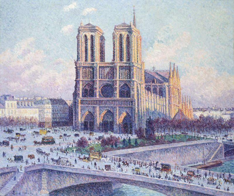 Maximilien Luce, Notre Dame, Ansicht vom Quai Saint-Michel, 1901-1904, Wallraf-Richartz-Museums & Fondation Corboud, Köln © RBA, Köln.