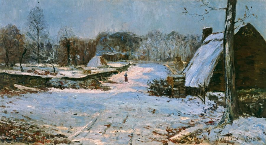 Maxime Maufra, Winterlandschaft, 1890, Wallraf-Richartz-Museums & Fondation Corboud, Köln © RBA, Köln.