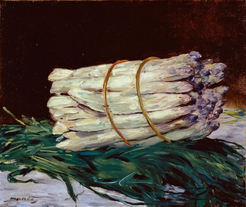 Édouard Manet, Spargel-Stillleben, 1880, Wallraf-Richartz-Museums & Fondation Corboud, Köln © RBA, Köln.