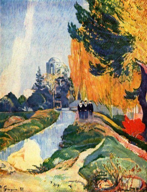 "Paul Gauguin, Les Alyscamps (Die drei Grazien beim Venustempel)"", ca. 29. Oktober 1888, Öl auf Leinwand, 92 x 73 cm (Musée d'Orsay, Paris)"