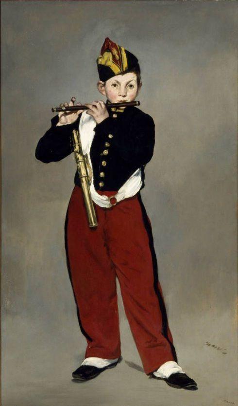Edouard Manet, Der Pfeiffer, 1866, 161 x 97 cm (Paris, Musée d'Orsay).