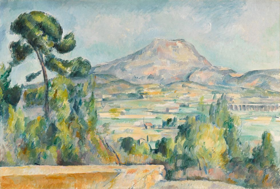 Paul Cézanne, Montagne Sainte-Victoire, um 1890, Öl auf Leinwand, 65 x 92 cm, Musée d'Orsay, Paris, donation de la petite-fille d'Auguste Pellerin, 1969 © Foto: bpk / RMN - Grand Palais / Hervé Lewandowski.