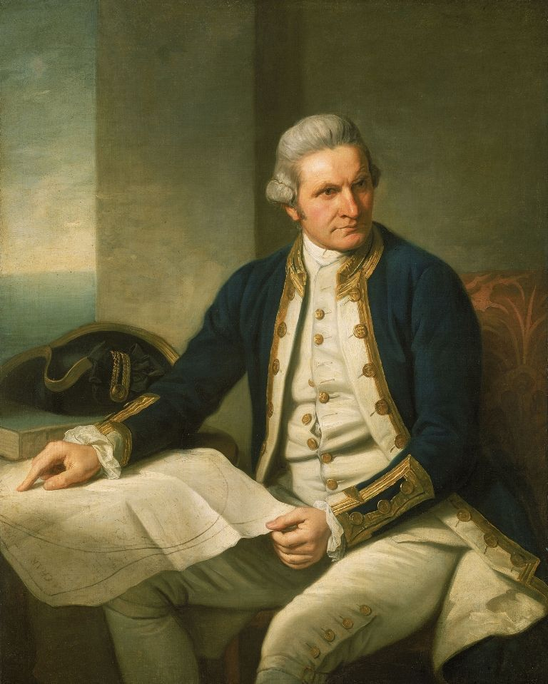 Nathaniel Dance (1735--1811), Captain James Cook, London, 1776, Öl auf Leinwand, 127 x 101,6 cm © National Maritime Museum, London, Greenwich Hospital Collection.