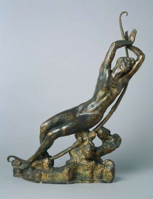 Émile-Antoine Bourdelle, Liegende Selene, 1917 (Modell), Bronze, 85 × 75 × 21cm, The National Museum of Western Art, Tokio.