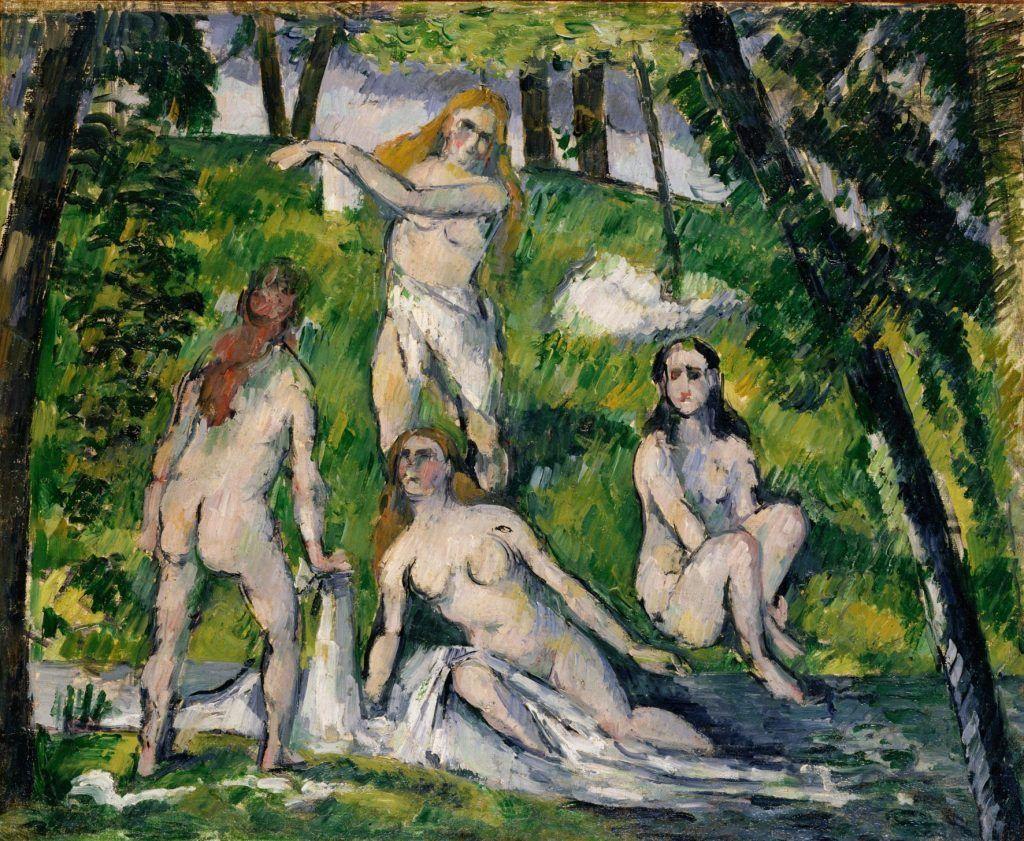 Paul Cézanne, Vier badende Frauen, 1877/78, Öl auf Leinwand, 38 × 46,2cm, Pola Museum of Art, Hakone, Präfektur Kanagawa.