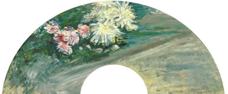 Édouard Manet, Chrysanthemen, 1881, Öl auf Papier, 17 × 59cm, The Museum of Modern Art, Ibaraki, Präfektur Ibaraki.