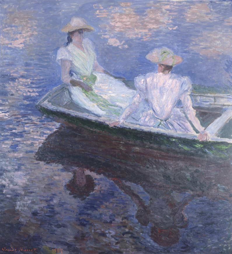 Claude Monet, Im Boot, 1887, Öl auf Leinwand, 145,5 × 133,5cm, The National Museum of Western Art, Tokio, Matsukata Collection.