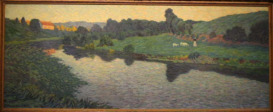 Toyosaku Saïtō, Fluss im Abendlicht, 1913, Öl auf Leinwand, 65,5 × 161cm, The National Museum of Modern Art, Tokio.