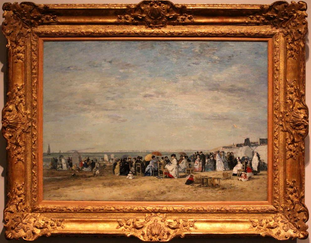Eugène Boudin, Der Strand von Trouville, 1867, Öl auf Leinwand, 63 × 89cm, The National Museum of Western Art, Tokio.