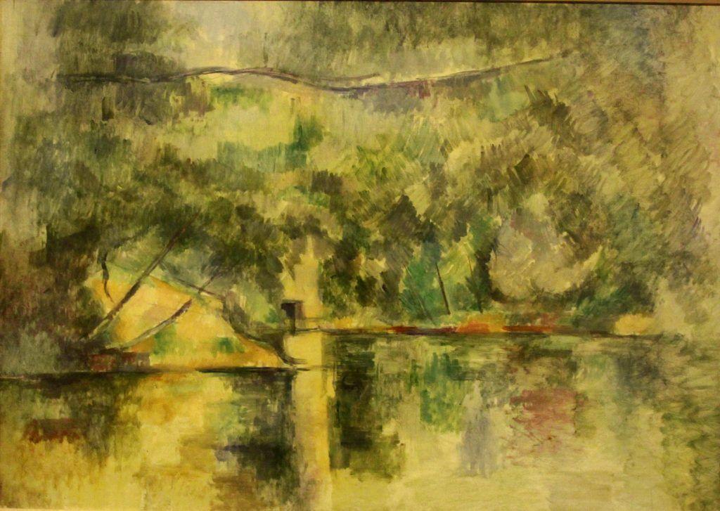 Paul Cézanne, Reflexe auf dem Wasser, 1892–1894, Öl auf Leinwand, 65 × 92cm, The Museum of Art, Ehime.