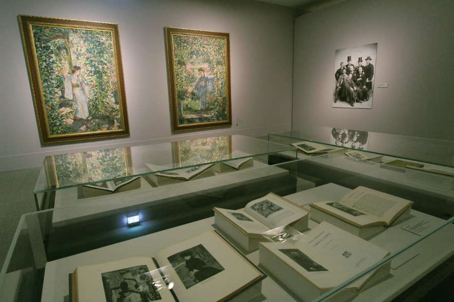 Japans Liebe zum Impressionismus, Installationsfoto: Alexandra Matzner.