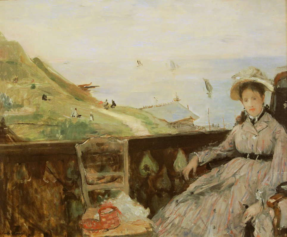 Berthe Morisot, Auf der Terrasse, 1874, Öl auf Leinwand, 45 × 54cm, Tokyo Fuji Art Museum, Hachiōji.