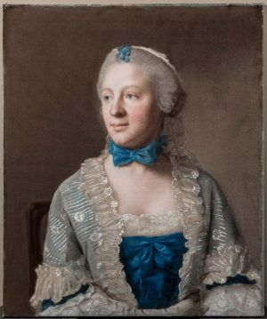 Jean-Etienne Liotard, Eva Marie Garrick, um 1754, Pastell auf Papier, gehöht mit Gouache, 57,6 x 47 cm, The Trustees of the Chatsworth Settlement, Chatsworth House. Gift of the 3rd Earl of Burlington, 1760, Photo (c) Devonshire Collection, Chatsworth. Reproduced by permission of Chatsworth Settlement Trustees.