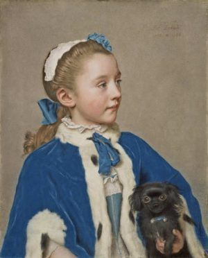 Jean-Etienne Liotard, Maria Friederike van Reede-Athlone im Alter von sieben Jahren, © J. Paul Getty Museum, Los Angeles, inv. 83.PC.273, , Photo The J. Paul Getty Museum, Los Angeles.