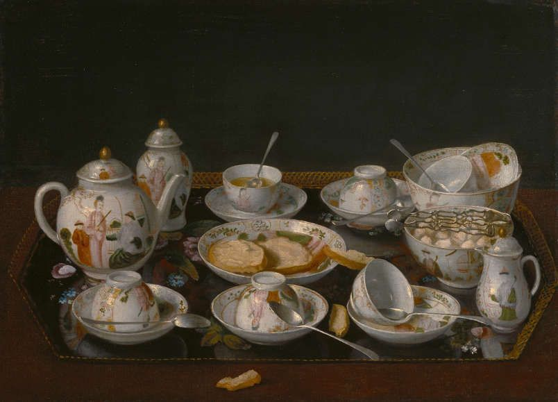 Jean-Etienne Liotard, Stillleben: Tee Set, um 1770–1783, O Öl auf Leinwand auf Karton, 37,5 x 51,4 cm, The J. Paul Getty Museum, Los Angeles, inv. 84.PA.57, Photo The J. Paul Getty Museum, Los Angeles.