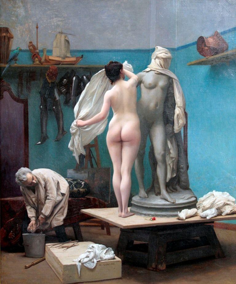 Jean-Léon Gérôme, Das Ende der Sitzung, 1886, 49 x 40,64 cm, Santa Ana, Privatsammlung © Frankel Family Trust.