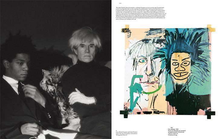 Jean-Michel Basquiat von Hatje Cantz, 2010, S. 150-151, Basquiat mit Warhol 1985 und Doz cabezas, 1982 (Privatsammlung).
