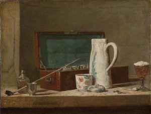 Jean Siméon Chardin, Pfeife und Krug, um 1737 (Louvre)