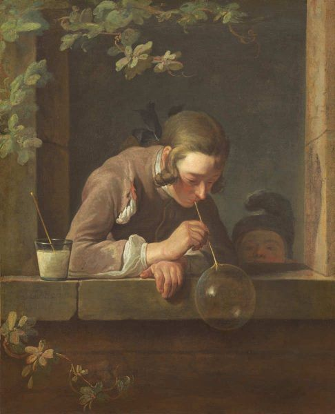 Jean Siméon Chardin, Seifenblasen, um 1733/34, Öl auf Leinwand, 93 x 74.6 cm (The National Gallery, Gift of Mrs. John W. Simpson, Washington, Inv.-Nr. 1942.5.1)