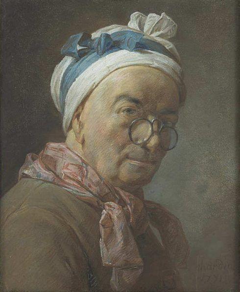 Jean Siméon Chardin, Selbstbildnis mit Brille, 1771 (Louvre)