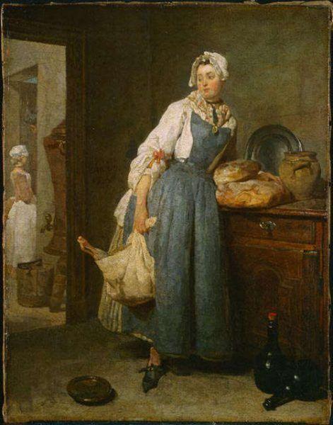 Jean Siméon Chardin, Rückkehr vom Markt, 46.7 x 37.5 cm (National Gallery of Canada, Nr 6433, Ottawa)