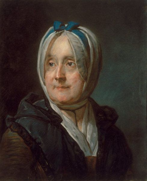 Jean Siméon Chardin, Porträt von Madame Chardin, 1776, Pastell, 45,5 x 37,5 cm (Art Institute of Chicago, Restricted gift of the Joseph and Helen Regenstein Foundation, 1962.137)