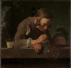 Jean Siméon Chardin, Seifenblasen, um 1733/34, Öl auf Leinwand, 61 x 63.2 cm (The Metropolitan Museum, Wentworth Fund, 1949, New York, Inv.-Nr. 49.24)