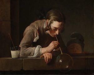 Jean Siméon Chardin, Seifenblasen, nach 1739, Öl auf Leinwand, 60,01 × 73,03 cm (Los Angeles County Museum, Gift of The Ahmanson Foundation, M.79.251)