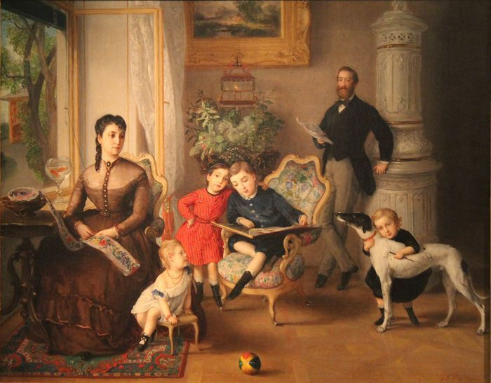 Johann Baptist Reiter, Familie Hirschler, 1867, Wien Museum, Foto: Alexandra Matzner.