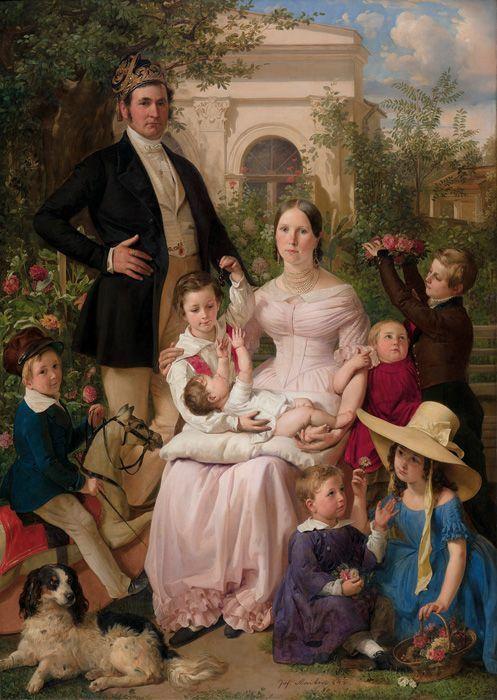 Johann Baptist Reiter, Familienbildnis Schegar, 1842, NORDICO Stadtmuseum Linz.
