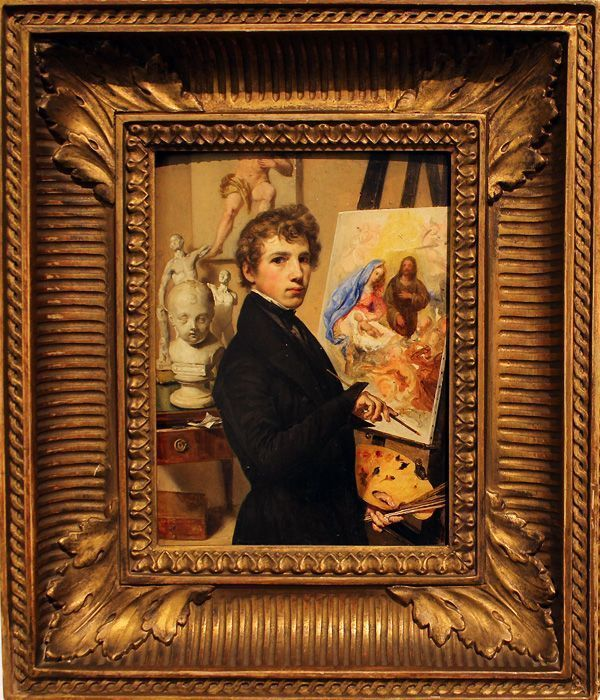 Johann Baptist Reiter, Selbstbildnis vor der Staffelei, 1835, Wien Museum, Foto: Alexandra Matzner.