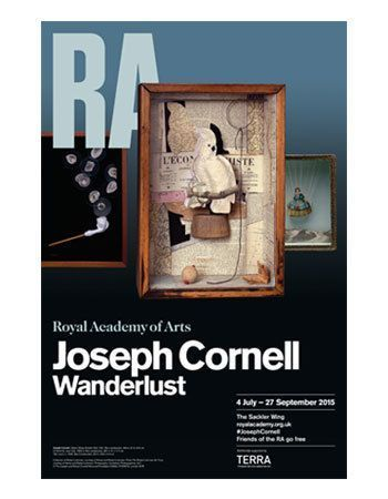 Joseph Cornell, Wanderlust, Plakat der Royal Academy in London