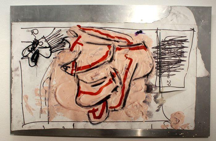 Jürgen Messensee, Spalt der Wirklichkeit, 2011, Jet, Acryl auf Leinwand, 132.5 x 205 cm, Courtesy d. Künstler © Lena Deinhardstein, Foto: Alexandra Matzner.