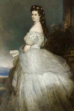 Franz Xaver Winterhalter, Kaiserin Elisabeth, undatiert, Öl auf Leinwand, 236 x 164 cm (© Belvedere, Wien, Foto © Áment Gellért)