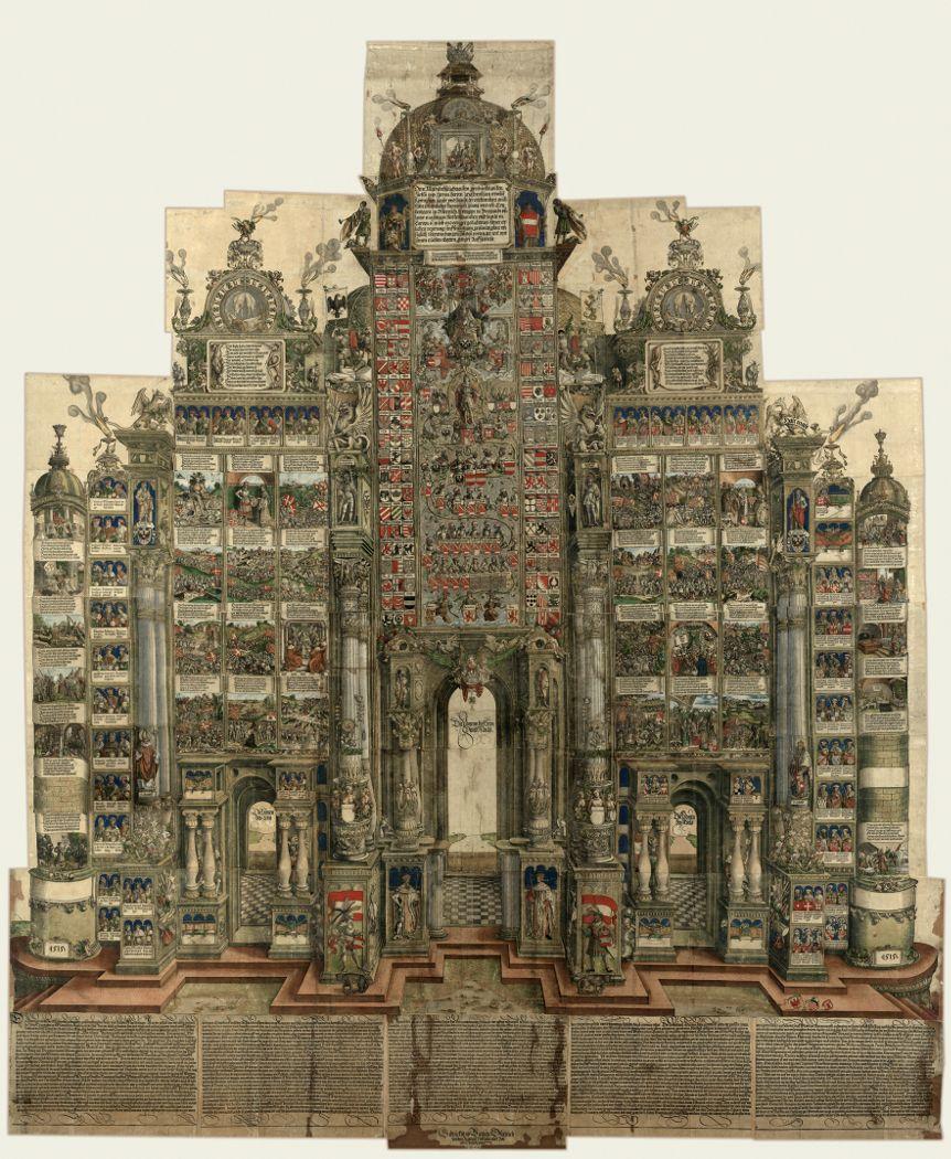 Die Ehrenpforte des Kaisers Maximilian I., 1515 (3. Ausgabe 1559) (Albertina, Wien).