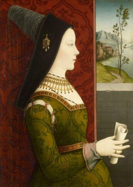 Niklas Reiser, Maria von Burgund, um 1500, Öl auf Holz © Kunsthistorisches Museum, Wien, Gemäldegalerie.