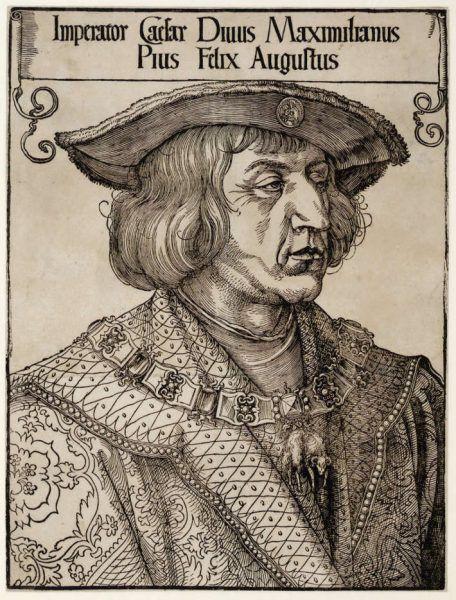 Hans Burgkmair d. Ä., Bildnis Kaiser Maximilians I., um 1519 (Albertina, Wien).