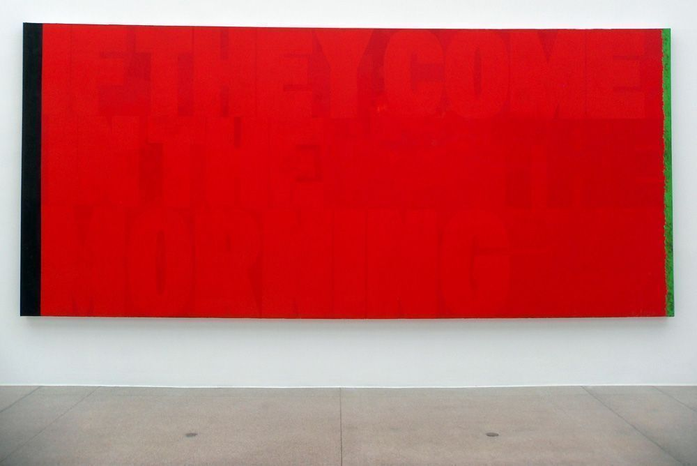 Kerry James Marshall, Red (If They Come in the Morning), 2011, Acryl auf Leinwand, 244 x 544 cm, Foto: Alexandra Matzner.