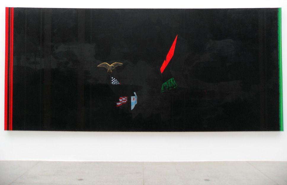 Kerry James Marshall, Black, 2012, Acryl auf Leinwand, 244 x 544 cm, Foto: Alexandra Matzner.