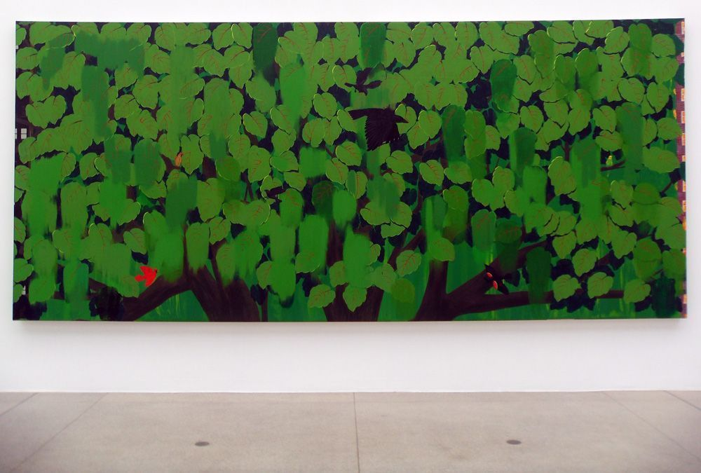 Kerry James Marshall, Green, 2012, Acryl auf Leinwand, 244 x 544 cm, Foto: Alexandra Matzner.